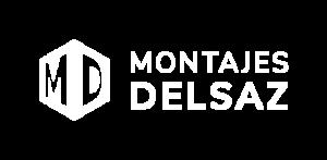 Logotipo Montajes Delsaz blanco